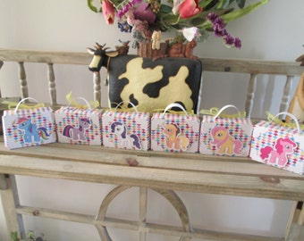 My Little Pony Inspired Mini Lunch Box Favor Boxes Set of 12