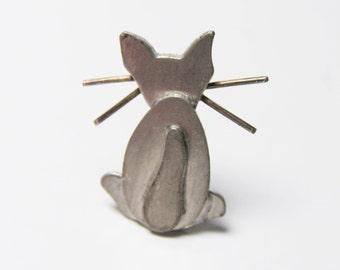 Kitty Cat Brooch Artisan Vintage