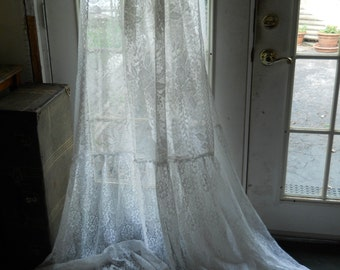 lace panels lace fabric vintage lace yardage curtains drapes clothers wedding veil gown