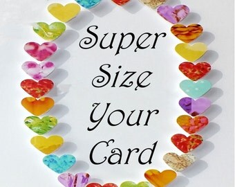 "Super Sized 8 x 8"" (20 x 20cm) Greeting Card from CardsbyGaynor"