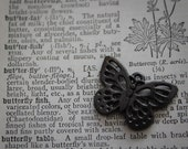 75% OFF 20 Butterfly Charms  Pendant finding Abstract Unique Gunmetal - Style Altered Art - Bumble Bee Insect
