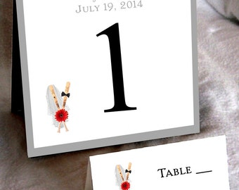 25 Baseball Table Numbers and 250 place settings