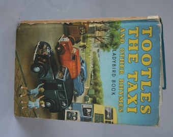 Tootles the Taxi Notebook handmade from a vintage ladybird book