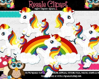Rainbow Pony Friends 1 Clipart (Digital Download)