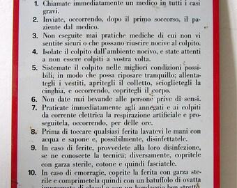 Italian Vintage Metal Sign