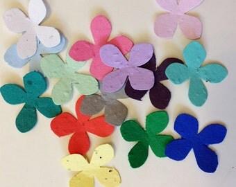 Plantable seed paper flowers - 25 plantable seed paper flowers - choose your color plantable flower