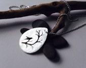 Simple Hammered teardrop Necklace. Bird & Branch Necklace