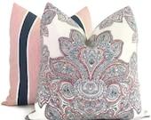 Tilton Fenwick Decorative Pillow Cover, Maris Paisley,  Square Pillow, Eurosham or Lumbar Pillow Cover, Toss Pillow, Throw Pillow