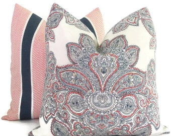 Tilton Fenwick Decorative Pillow Cover, Maris Paisley,  Square Pillow, Eurosham or Lumbar Pillow Cover, Toss Pillow, Throw Pillow