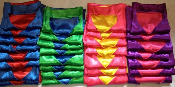Affordable BASIC CAPE Plain Cape Includes Double Velcro Collar Quick Easy Birthday Gift Party Favor