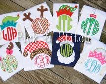 Made for Monogram Christmas Set Applique Design Machine Embroidery INSTANT DOWNLOAD
