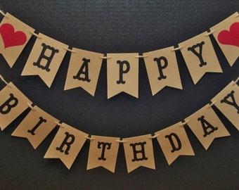 HAPPY BIRTHDAY banner, Happy Birthday garland, Birthday Party decor, Birthday Party Photo Prop