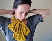MUSTARD YELLOW Neck Bow - Bohemian Head Scarf, Hair Wrap - Womens Golden Hair Accessories