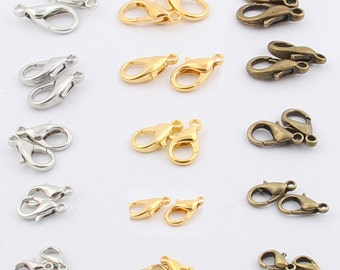 10pcs-18mm Silver/gold/brass Lobster clasp -Antique metal jewelry findings-A 111