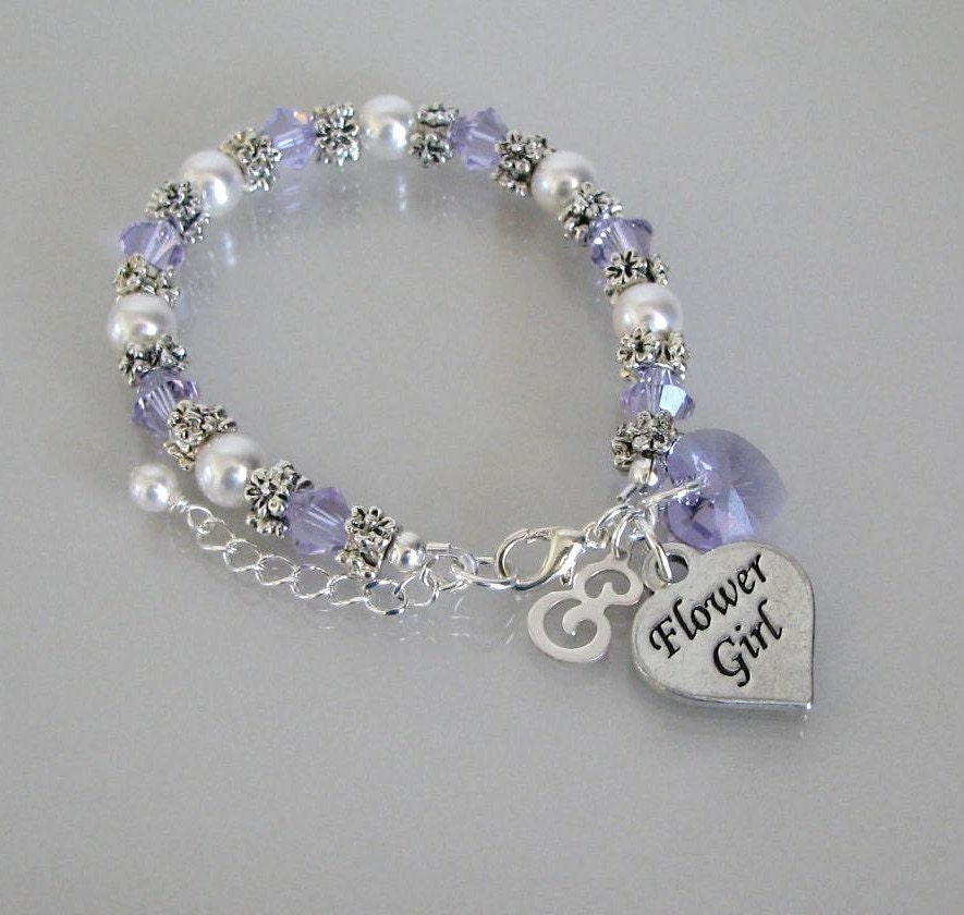 flower bracelet flower jewelry violet flower
