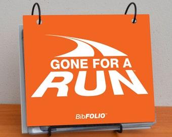 BibFOLIO Race Bib Album - Gone For a Run - [tr-01006]