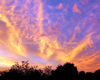 "Utah Sunset - 11"" x 14"" Original Fine Art Photography"