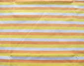 Vintage sheet fat quarter - yellow and orange stripe