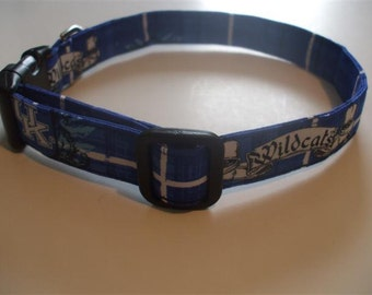 Handmade Cotton Dog Collar Plaid University of Kentucky Wildcats