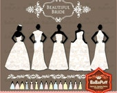 Instant Downloads, Brides Clip Art 4 Sets. Personal and Small Commercial Use. BP 0181