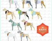 Instant Downloads, 10 Digital Boxer Baby Dogs Clip Art, Personal and Small Commercial Use. BP 0909