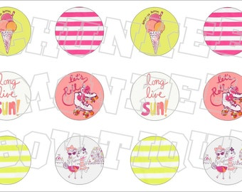 Made to Match Gymboree M2MG Bright and Beachy bottlecap image sheet