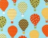 SALE - Wild Urban Flotologie FLANNEL - Hot Air Balloon from Robert Kaufman