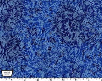 Fairy Frost - Blue- Cotton Print Metallic from Michael Miller