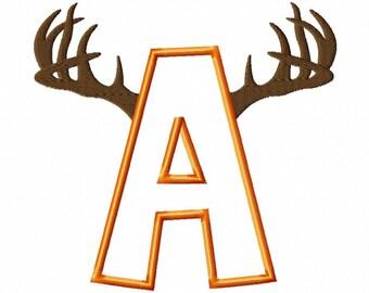 Big Buck Font Set - Applique - Machine Embroidery Design - 4 Sizes