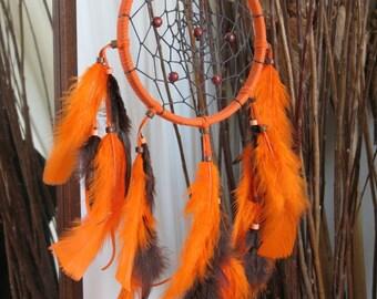"""6"""" Orange & Brown dream Catcher"""