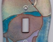 enameled copper light switch cover/ abstract single toggle
