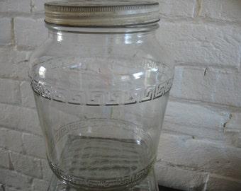 Vintage Hazel Atlas Canister Jar - Hoosier - Large