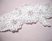 Lace garter, Ivory stretchy lace garter, Ivory bridal garter