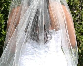 VEIL, Bridal veil, wedding veil, short veil, Veil with rhinestones