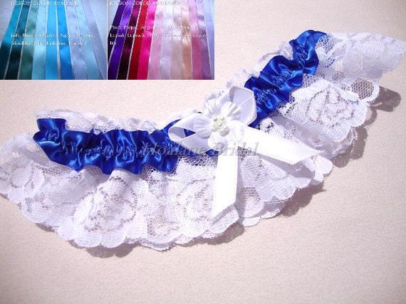 Lace Garter, Royal Blue Garter, Royal Blue Bridal Garter, Wedding Garter