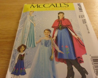 McCall's MP381 Frozen Children's Costume Pattern