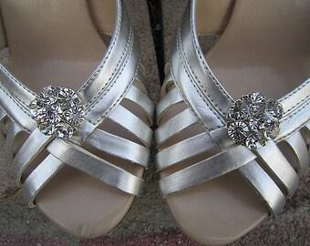Bridal Rhinestone Shoe Clips Wedding Shoe Accessory -- PAMELA