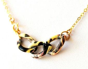 Colorful Loops Ankle Bracelet, Summer Gold Anklet, Girls Ankle Bracelet