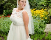 Plus Size Wedding Dress Silk, lace and tulle wedding dress,  Sweetheart Wedding Dress,Illusion neckline,Tulle Ball Gown Wedding Dress