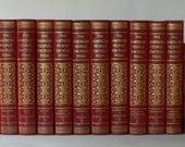vintage Encyclopedias complete set red leather 1955 from Diz Has Neat Stuff