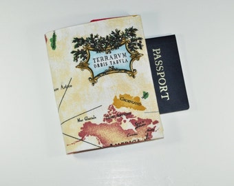 World Map Passport Cover - Map Print Passport Holder - Gift for Her - Gift for Him - Gift for Traveler - Gifts Under 10
