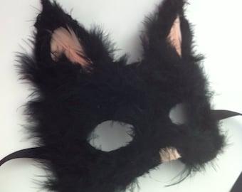 Custom Cat - Feathered Specialty Animal Masks