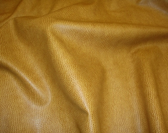 Caramel Ostrich Plush Upholstery Faux Leather vinyl fabric per yard