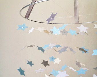 The Touch of Cloud Grey Star Mobile DIY Kit /// Nursery Decor, Photo Prop, Baby Shower Gift, Mobile.