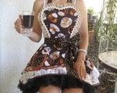 Womens Sexy Coffee Lover Barista Retro Apron