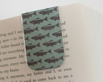 Fish Magnetic Bookmark, Laminated Bookmark, Fishing, Nature, Masculine Bookmark, Sportsman, Unique, Ready To Ship