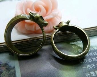 10pcs 17mm Antique Bronze  Round Cameo Cabochon Base Setting Rings C2037