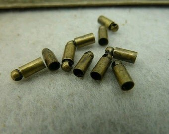 100pcs 3x8mm Antique Bronze Cap C4695