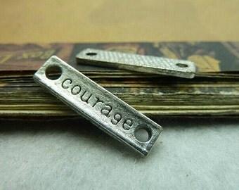 20pcs 5x25mm The Courage Color Retro Pendant Charm For Jewelry /Pendants C5658
