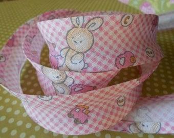 """Bias Tape Binding Cotton Baby Pink 1"""" width 4 Yards"""